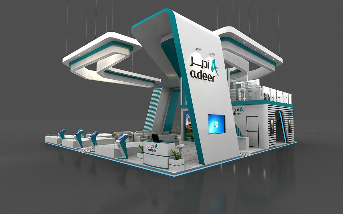 Exhibition Stand Behance : Adeer s corporate riyadh exhibition stand m on behance