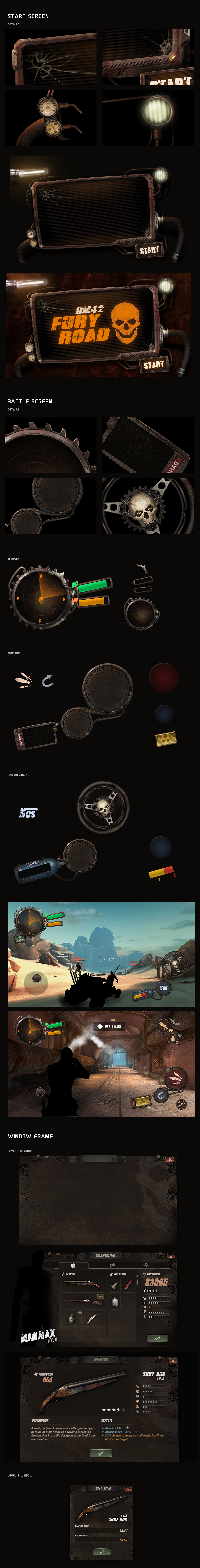 rusty game ui kit on Behance