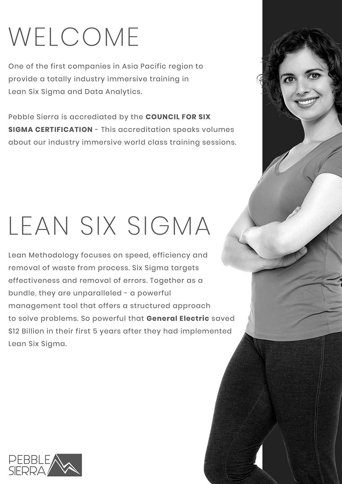 Brochure Design For Pebble Sierra Lean Six Sigma On Behance