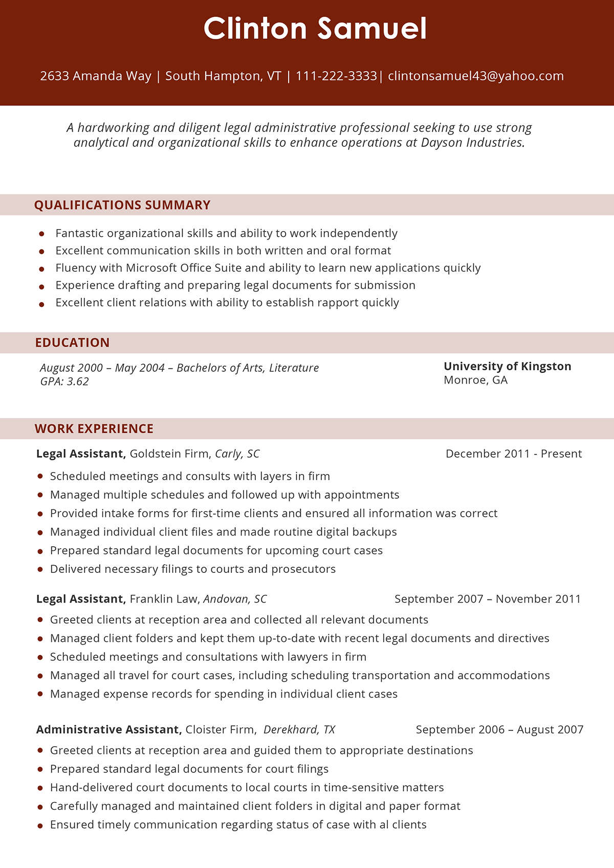 Legal Resume Format on Pantone Canvas Gallery