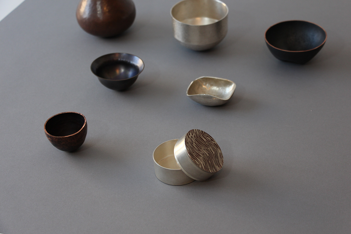 container copper forged metal metalwork silver Silversmithing texture traditional vessel