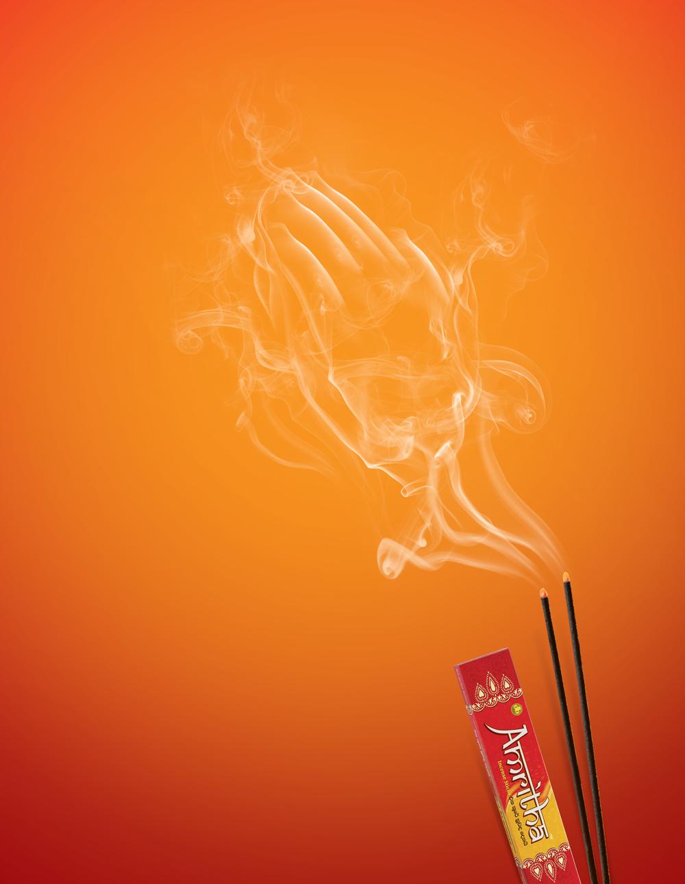 Amritha Incense Sticks Print Design On Behance