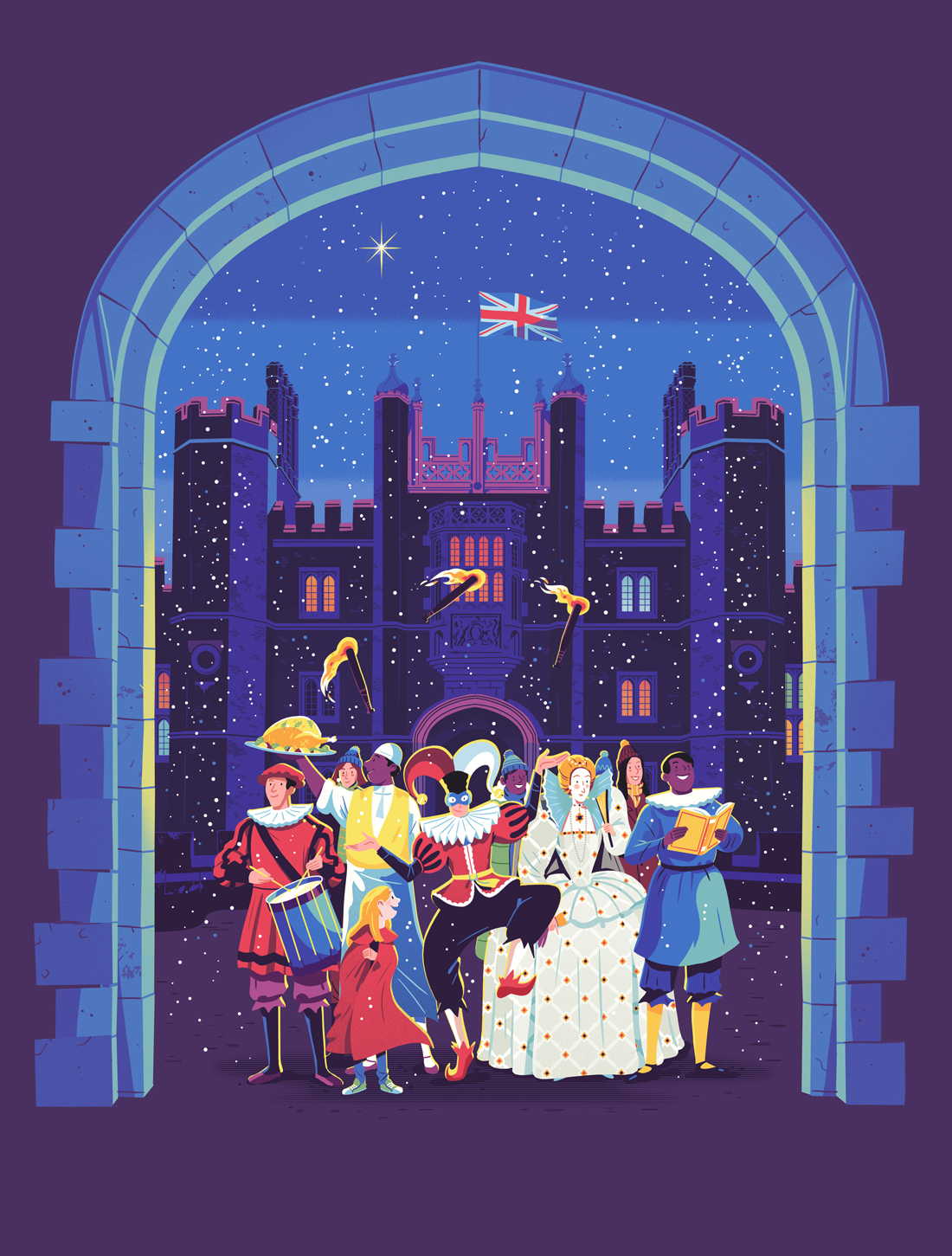 Historic Royal Palaces Poster Design Tower of London Kensington Palace