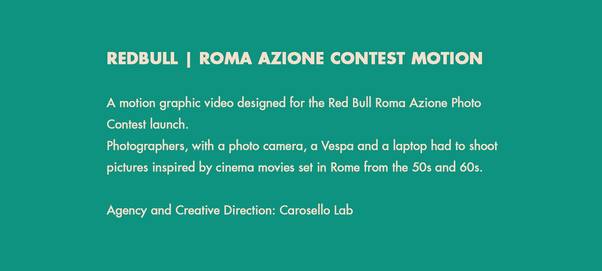 RedBull roma Italy Rome azione photographers contest motion 50s 60s ladolcevita vespa piaggio Icon