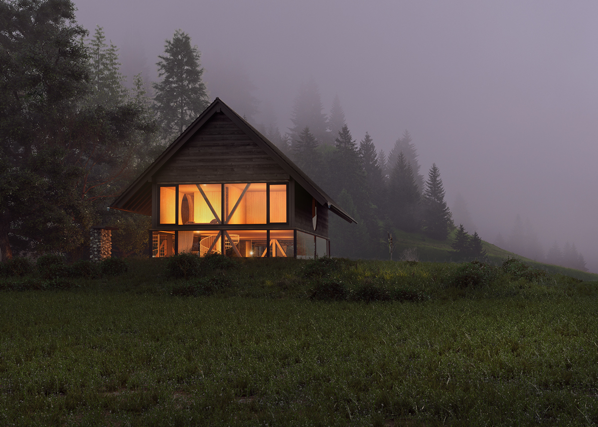 Cgi exterior swiss house part 2 on behance for Swiss homes