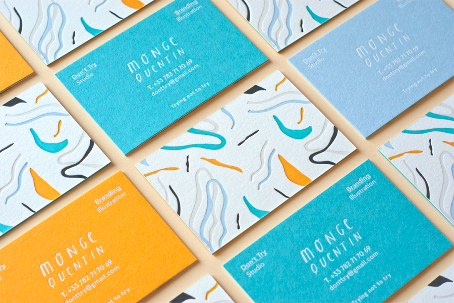 Don\'t Try Studio - Business Cards on Behance