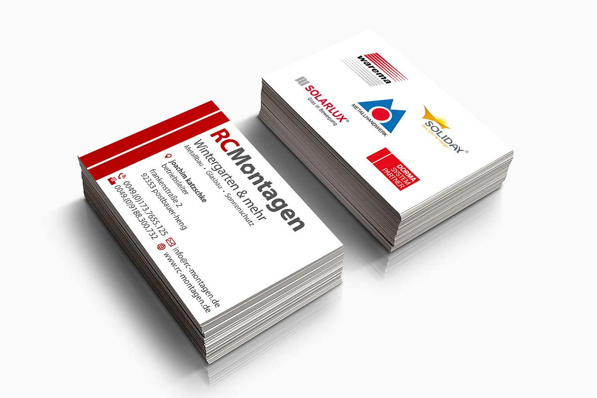 Grafikdesign Visitenkarten Rc Montagen On Behance
