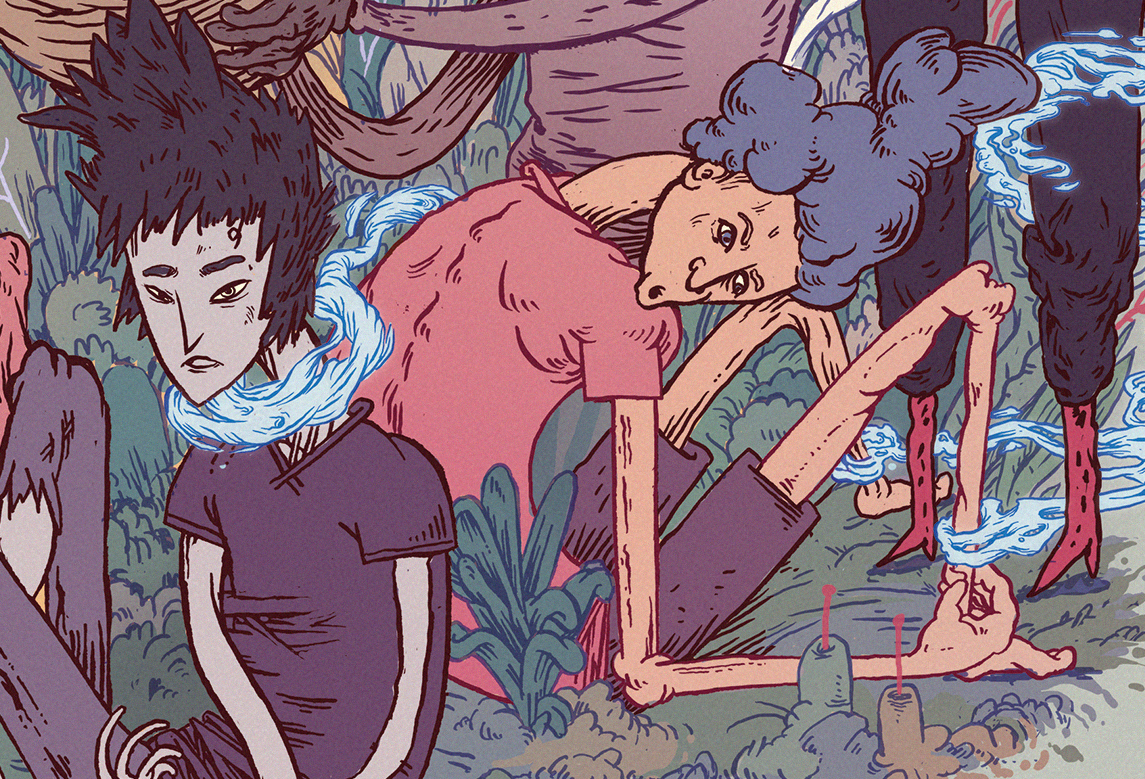 usbek rica Scifi magazine Illustraion women power matriarchy birth