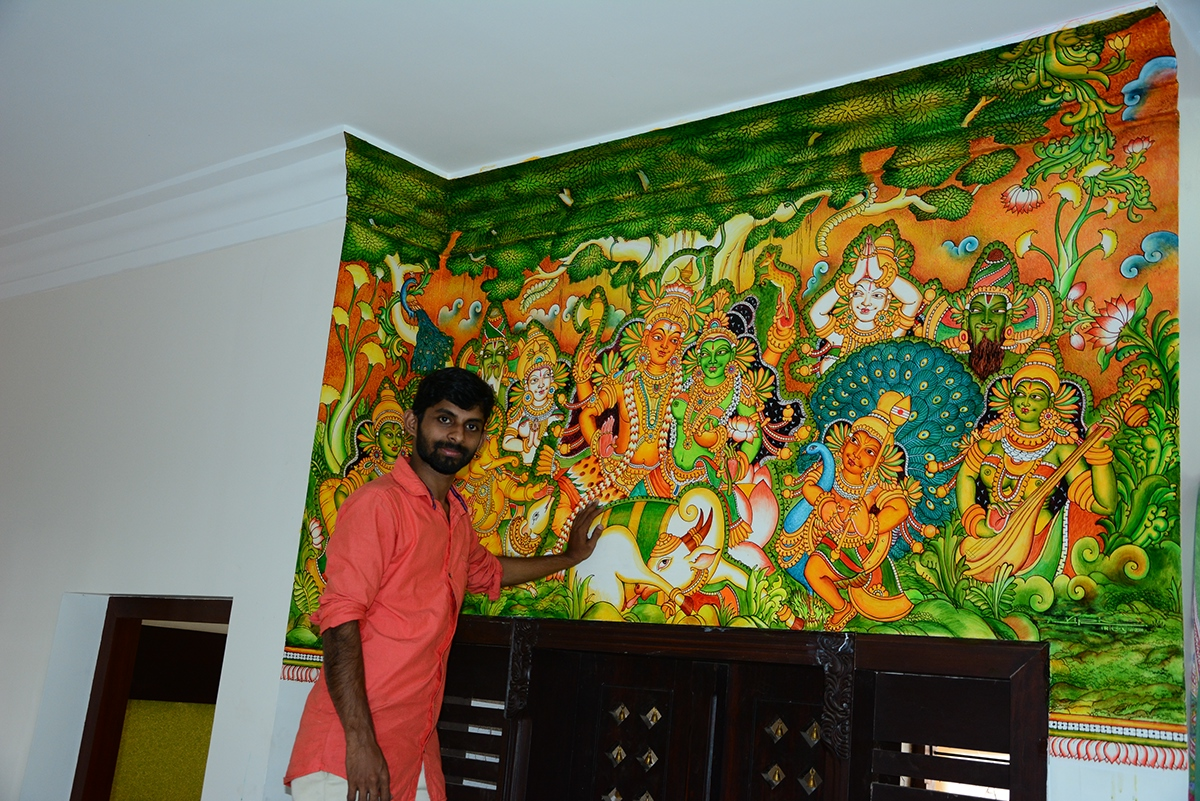 Mural and oil paintings by vipin iritty on behance for Canvas mural painting