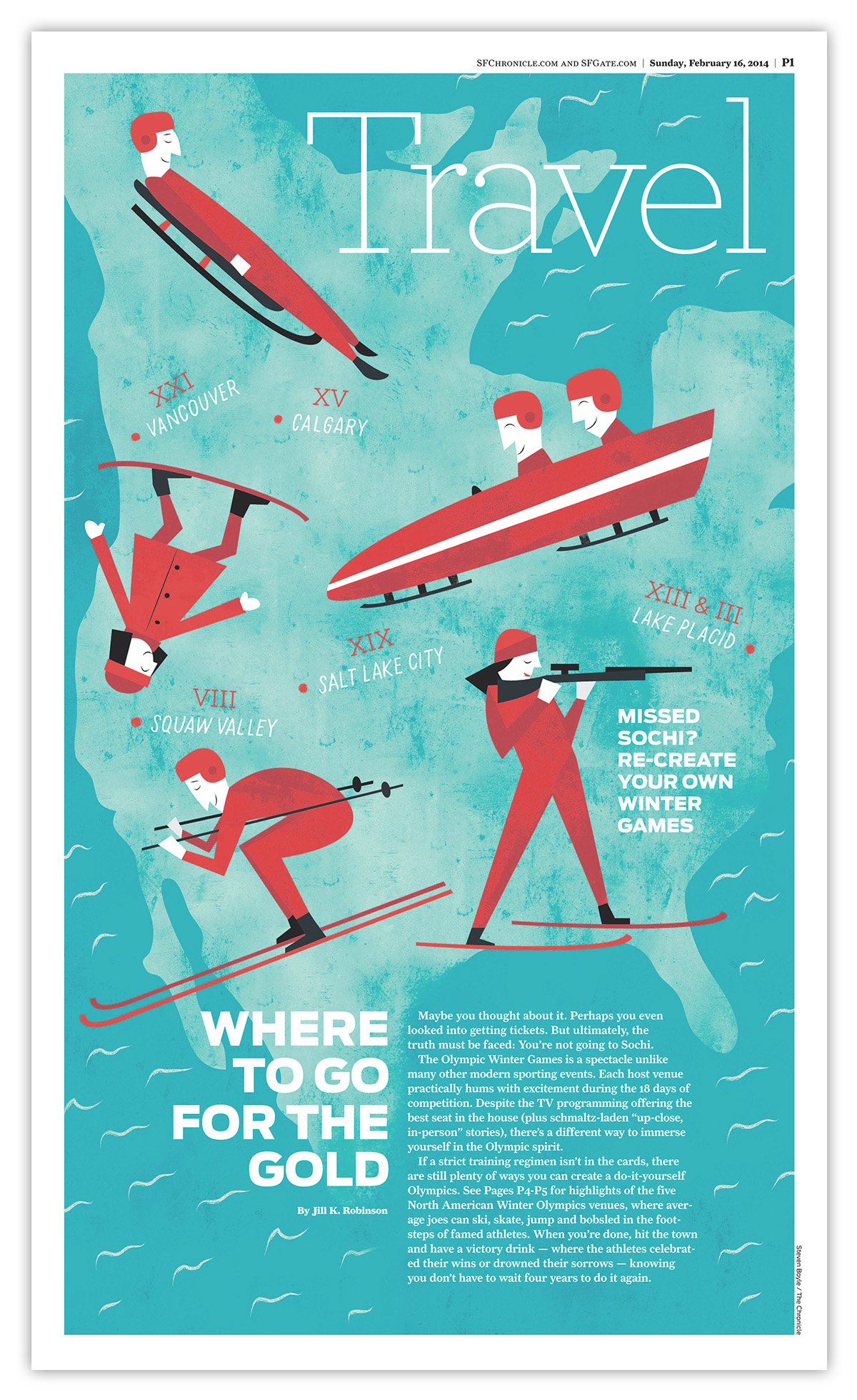 Various Illustrations For The San Francisco Chronicle On