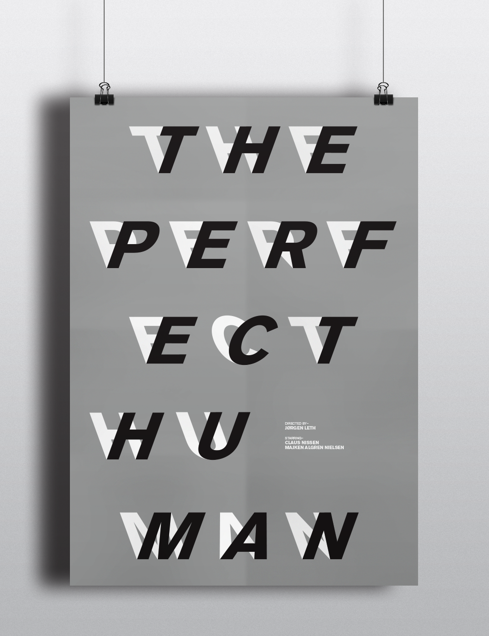 the perfect human,poster,movie,Jorgen Leth,Lars Von Trier,black and white