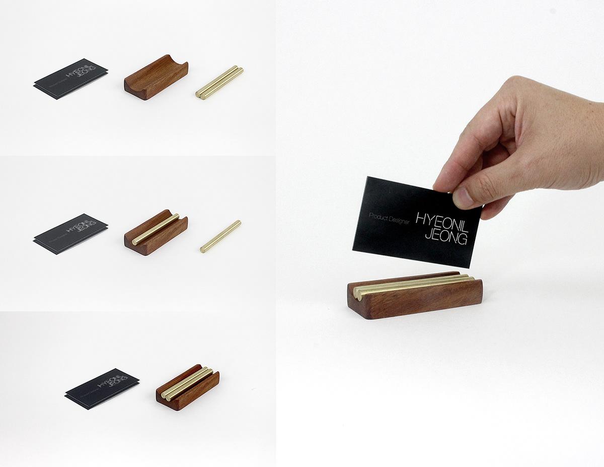 card,holder,brass,copper,wood