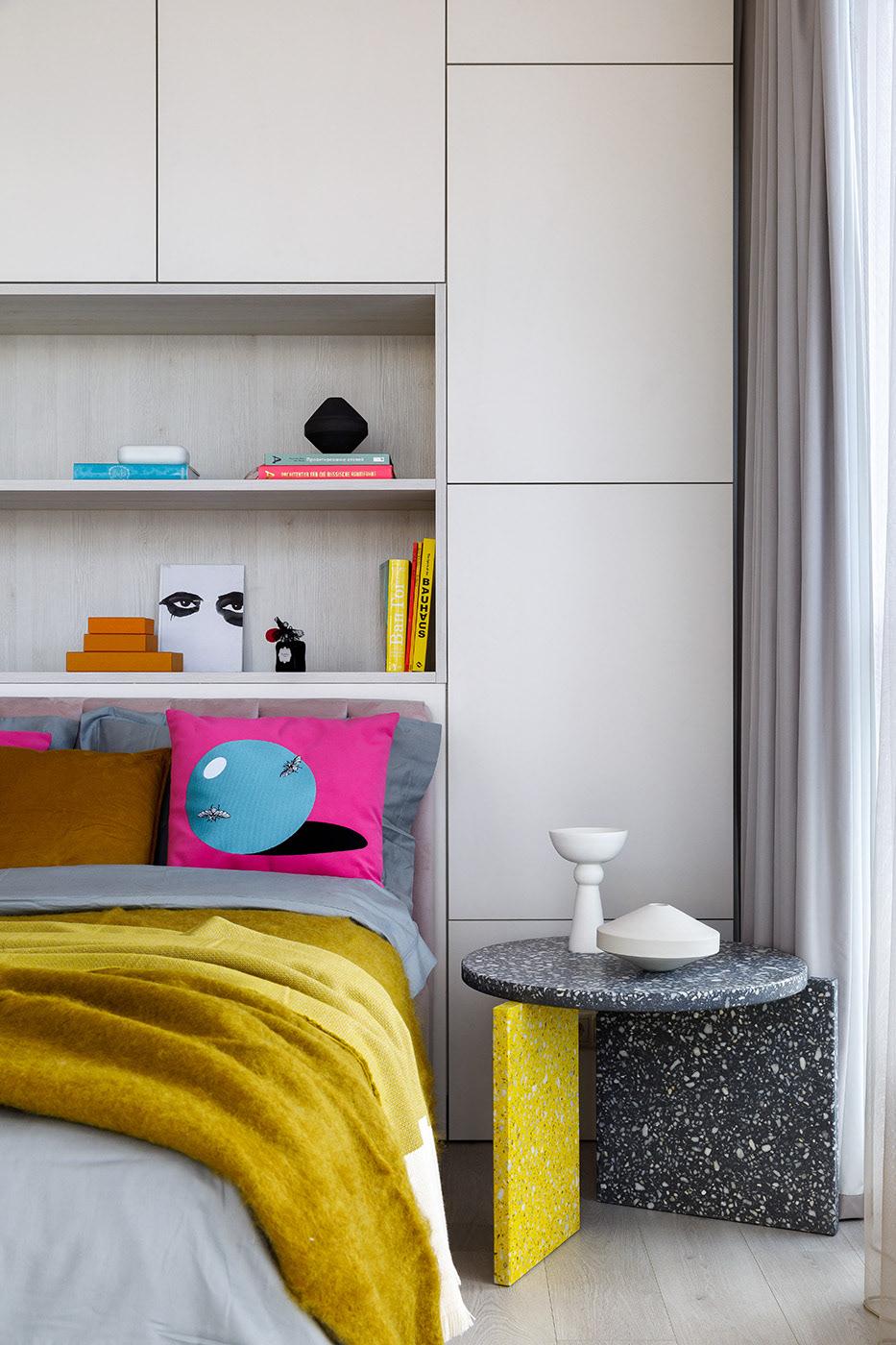 apartment bedroom design Interior interior design  декор дизайн дизайн интерьера интерьер квартира