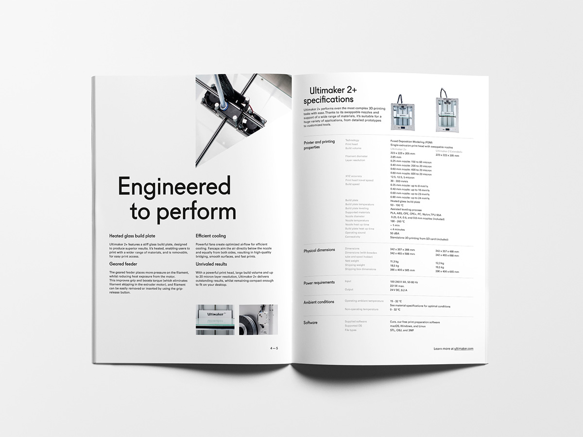 Ultimaker corporate branding  UM2+ UM3 brochure Stationery Icon utrecht The Netherlands