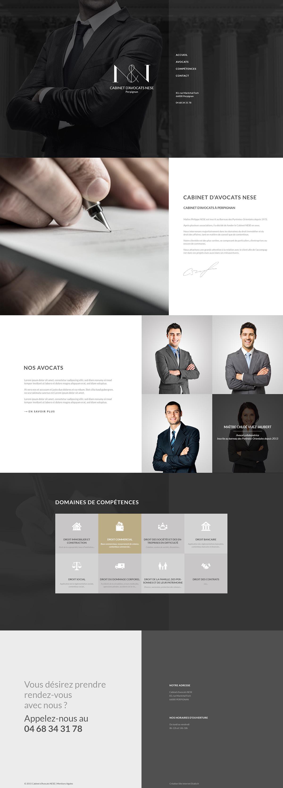 lawyer law business Website Webdesign