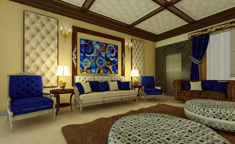 Luxury Living Room Islamabad Interior Design On Behance