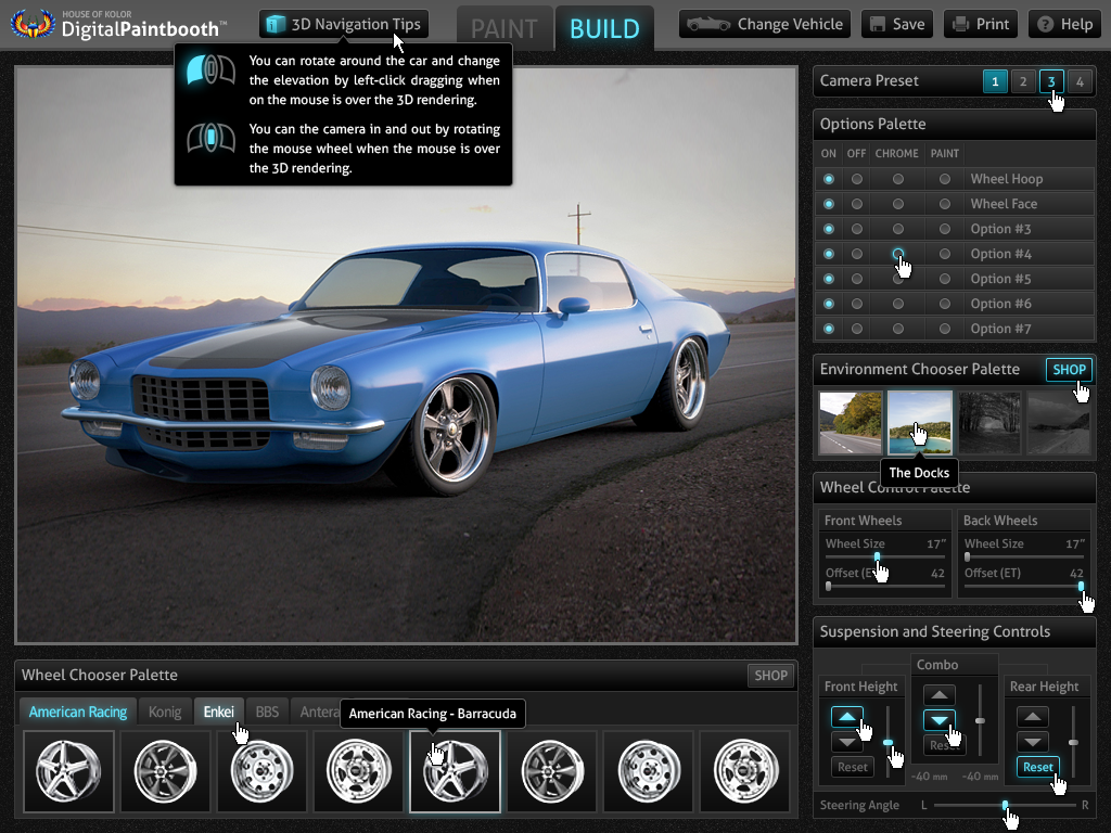Digital Paint Booth 3d Automotive App Design 2010 On Behance