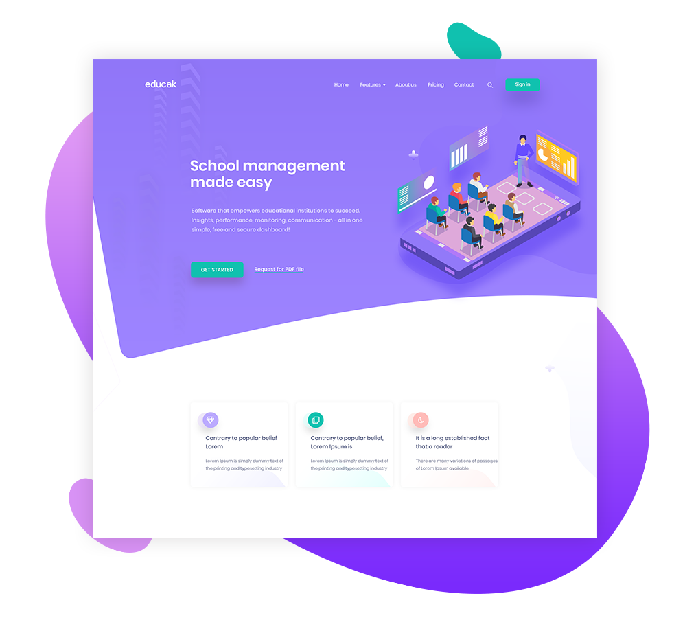 Education Landing Page Banner Exploration On Behance