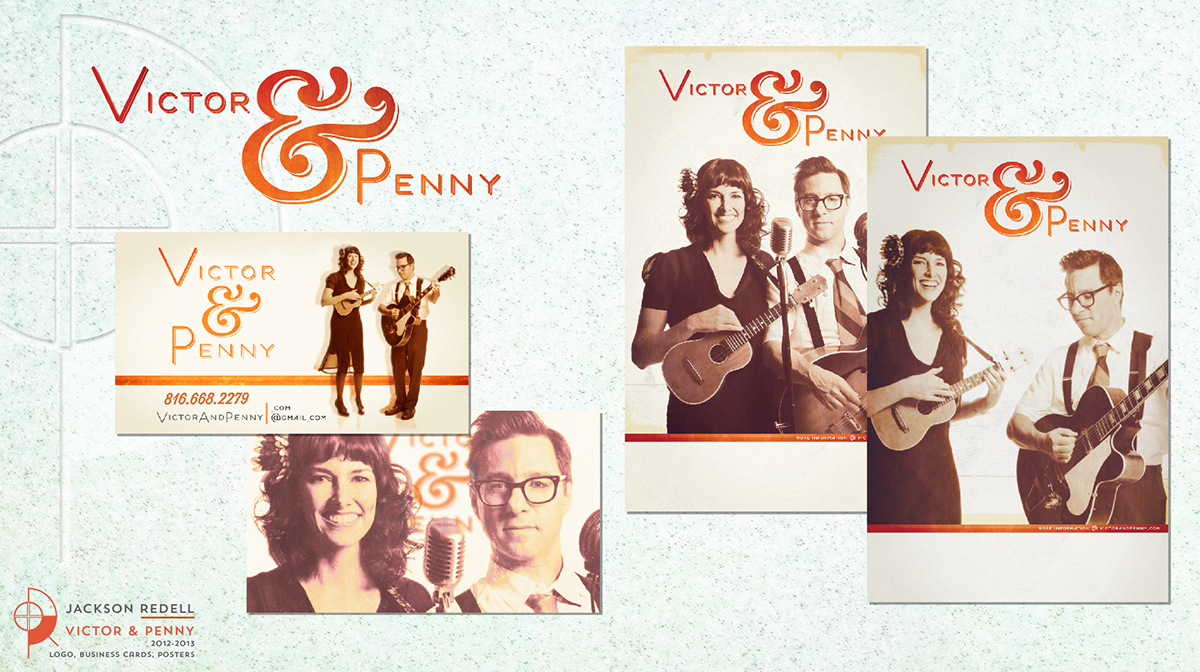 Adobe Portfolio logo Business Cards cd Album poster Stationery email list sheet music wood sign