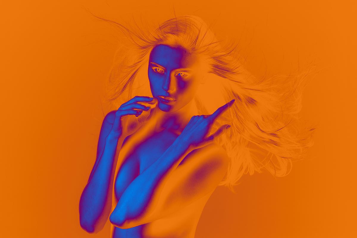 digital art photos colour Website Web design Paris portrait woman color