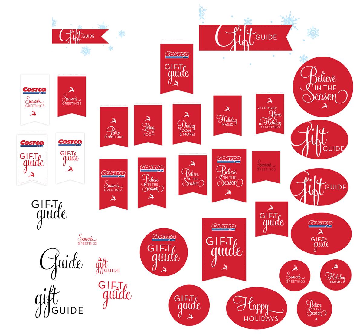 Christmas Design Elements On Behance