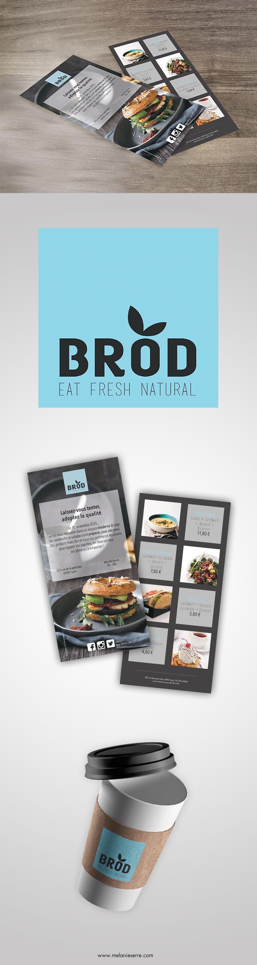brod,restauration rapide,flyer,logo,menus,Melanie SERRE,wis