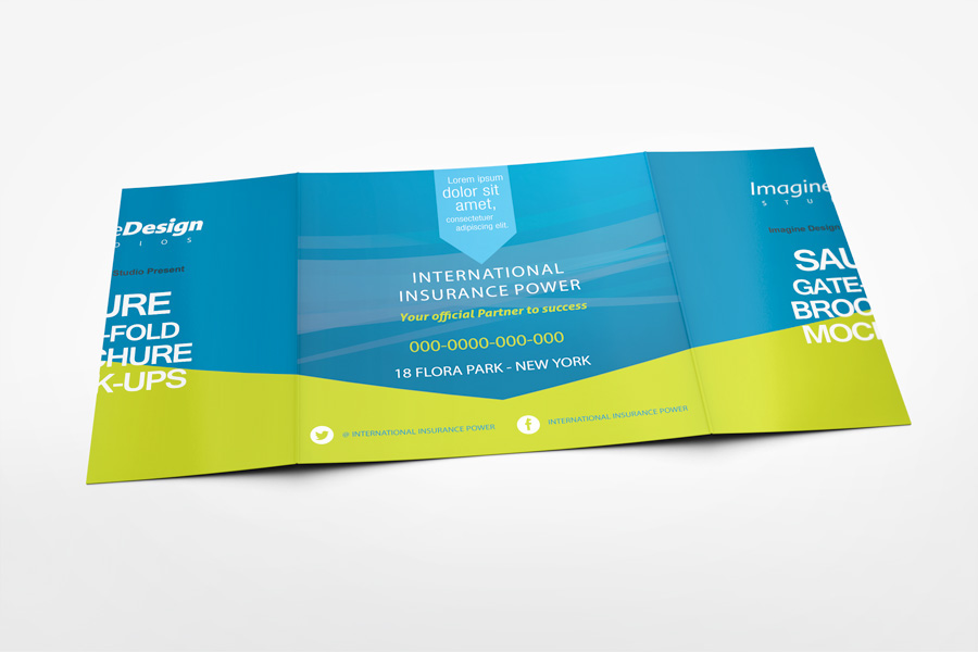 Beau Square Gate Fold Brochure Mockup On Behance