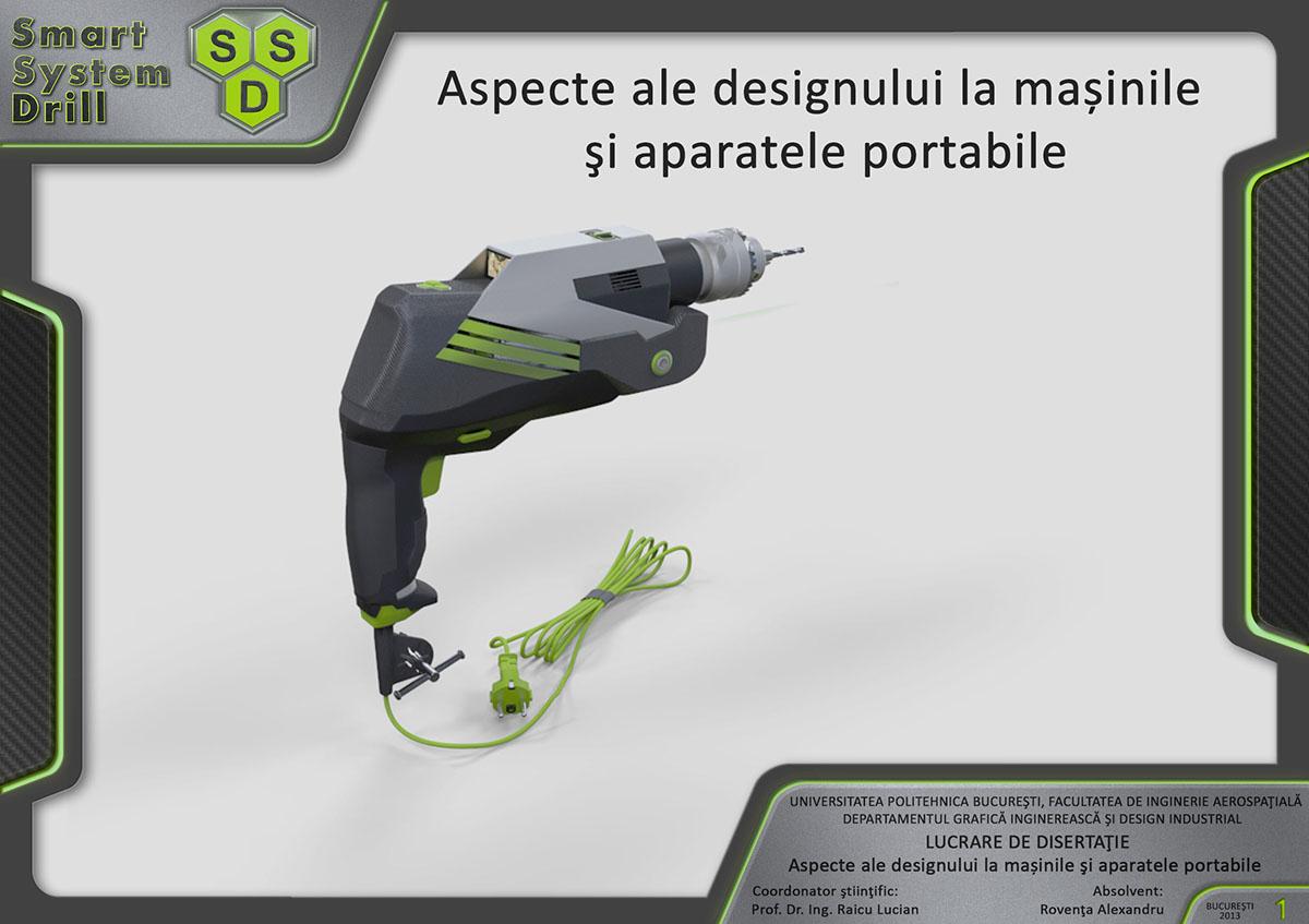 roventa alexandru ruver design industral product Smart system drill Master 3D 3d max concept Dissertation