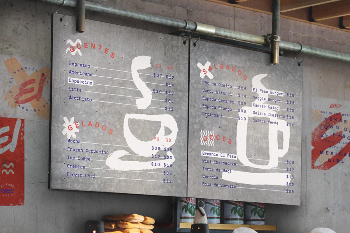 coffe el paso recife Savia restaurant cafe coffee shop Food  red handmade lettering icons raw