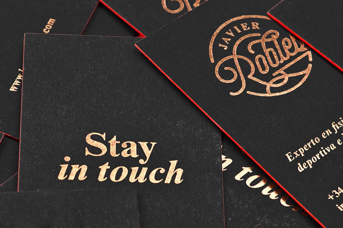 luxury cards engraving hotfoil redneon bronze fedrigoni sirioblack identity