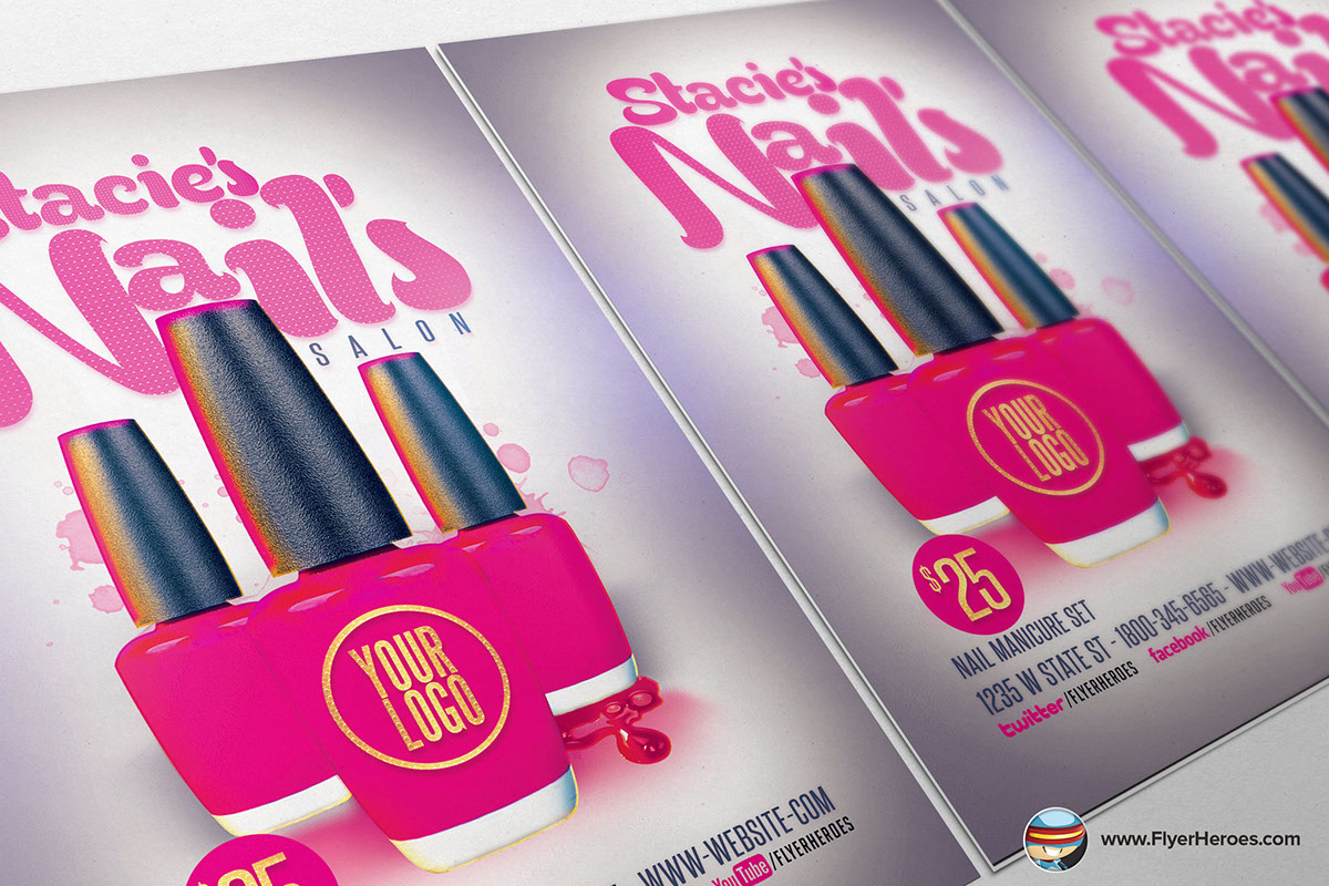 nail bar flyer template on behance nail bar flyer template from flyerheroes are fully editable photoshop psds once you have ed this template using adobe photoshop cs4 you can make