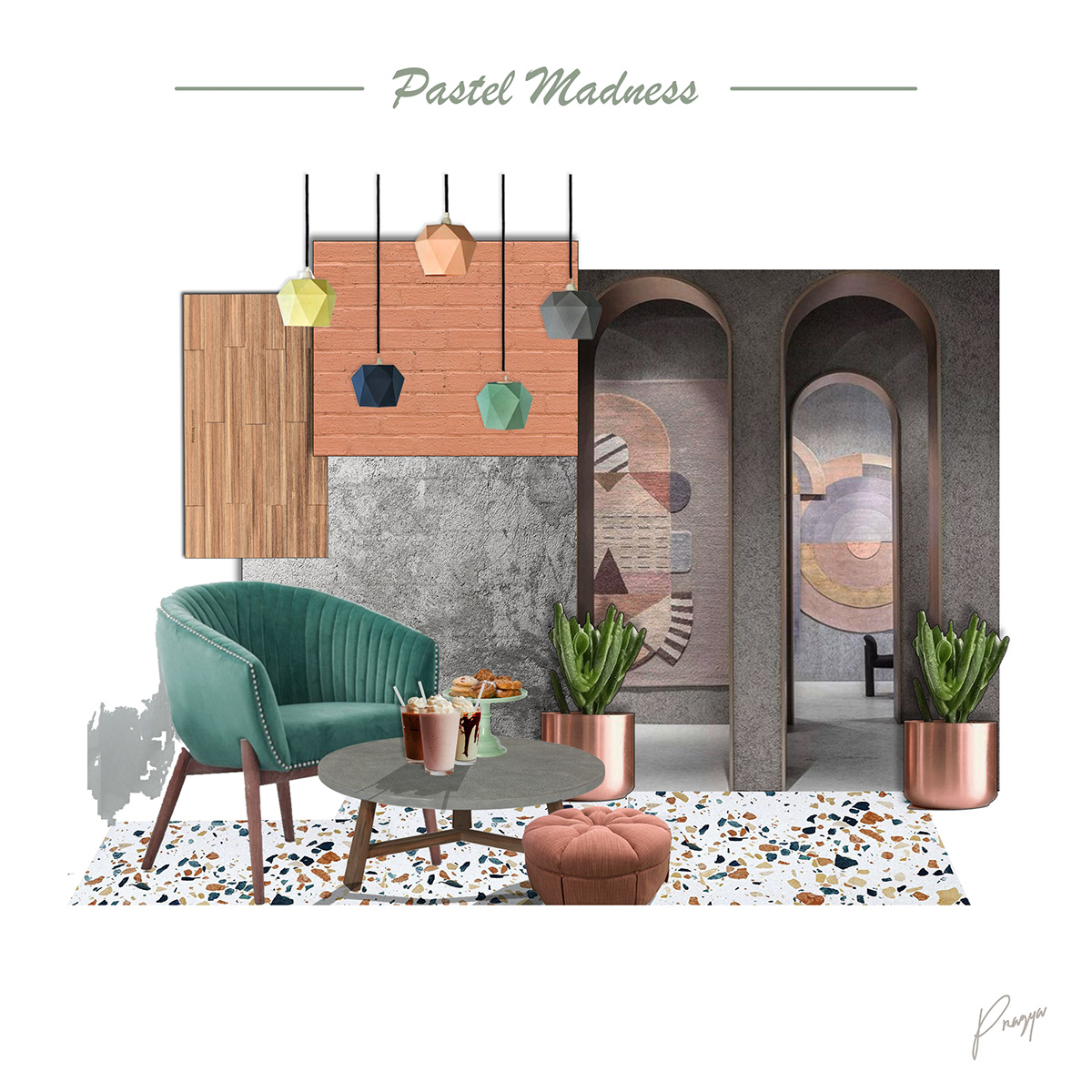 Interior Moodboard Pastel Madness On Student Show