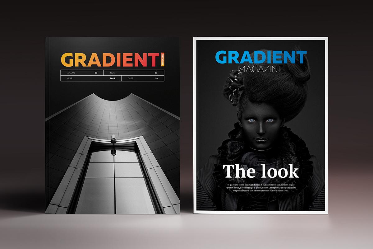 Gradient Magazine Indesign Template on Behance