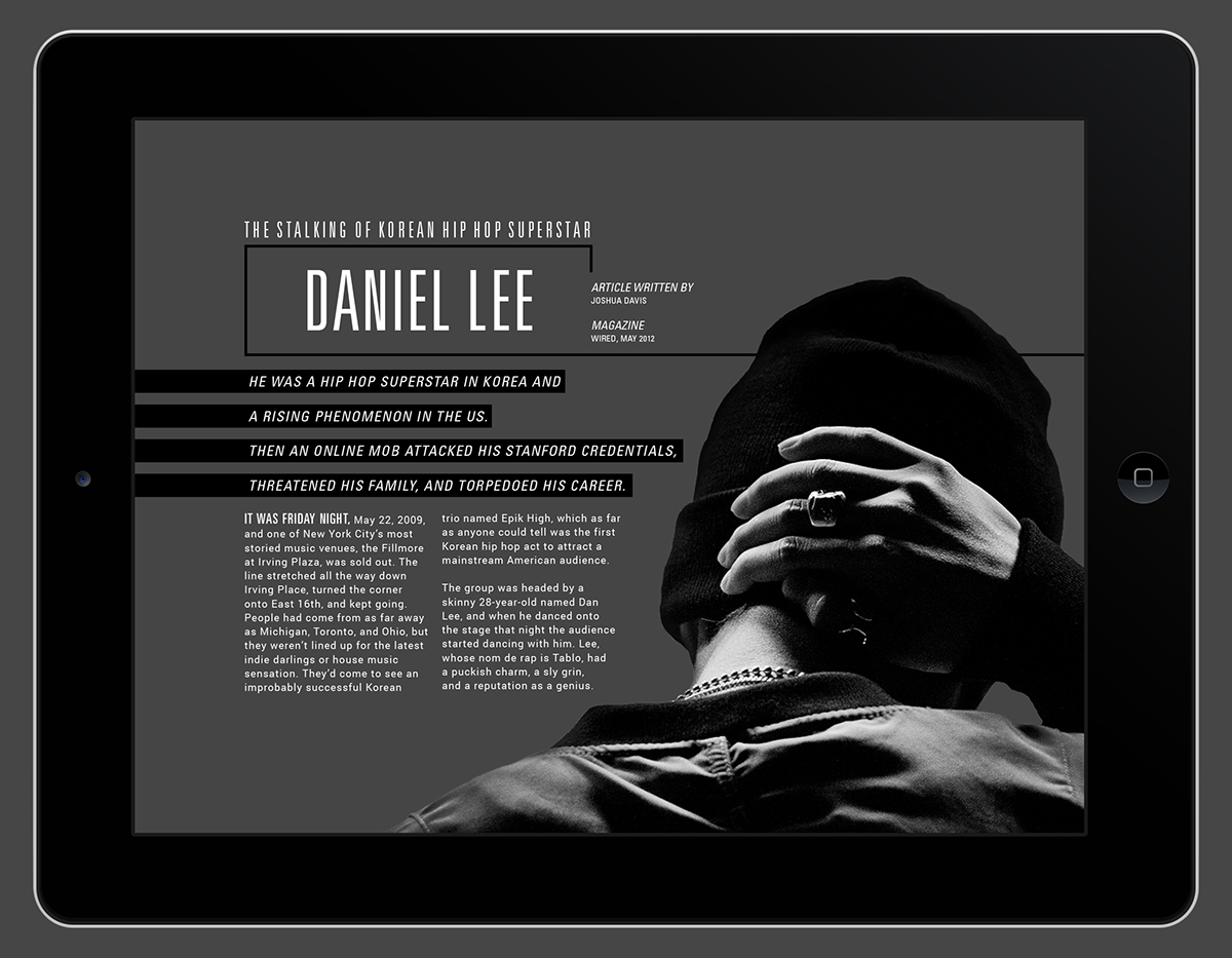 Daniel Lee (Tablo) - Digital Publication Design on Behance
