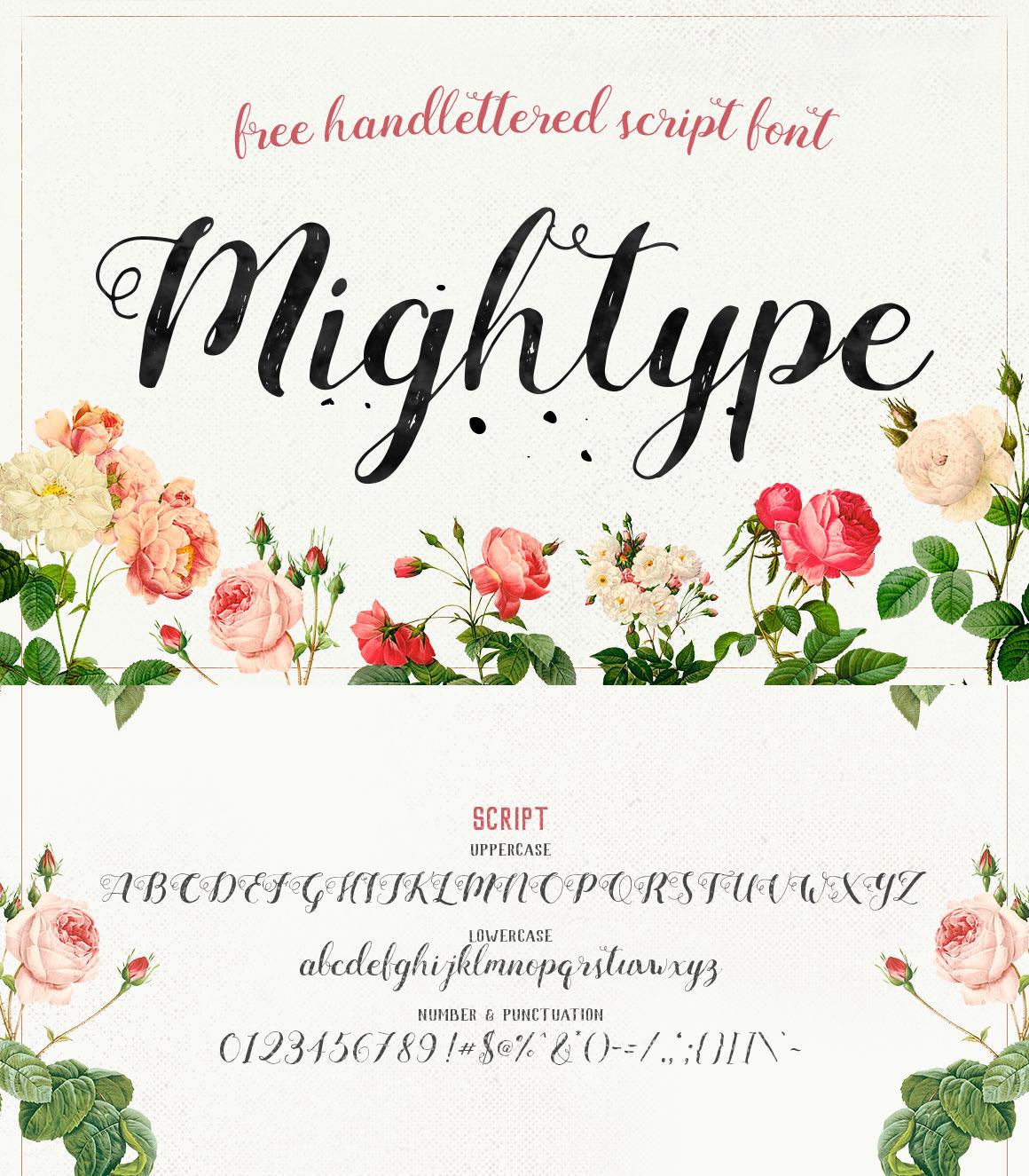 free font fonts lettering freebie Handlettering Script handdrawn handmade Typeface type inspiration creative handwriting