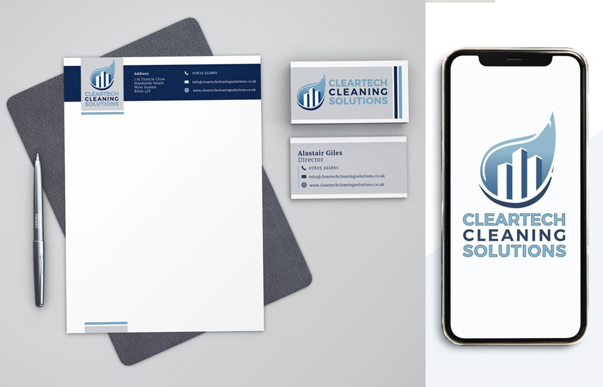 Cleartech Cleaning Solutions - Corporate Identity, UK.