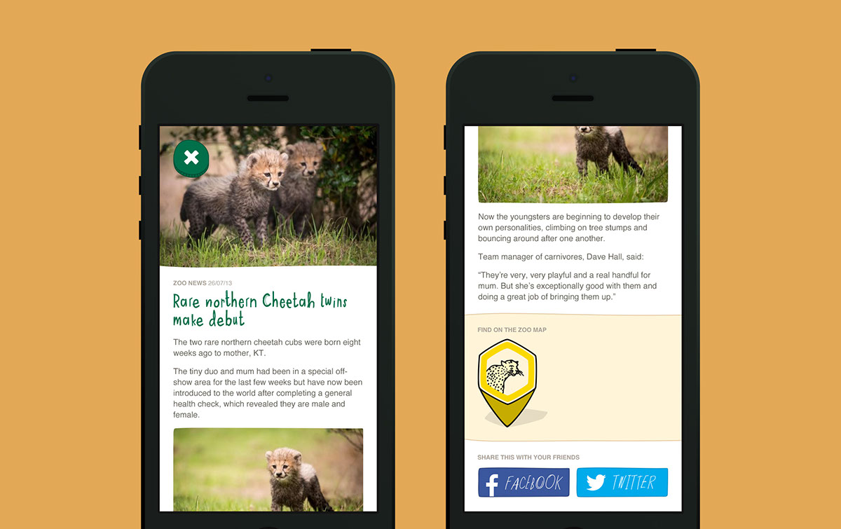 iphone app design ios android mobile zoo Interface Badges map