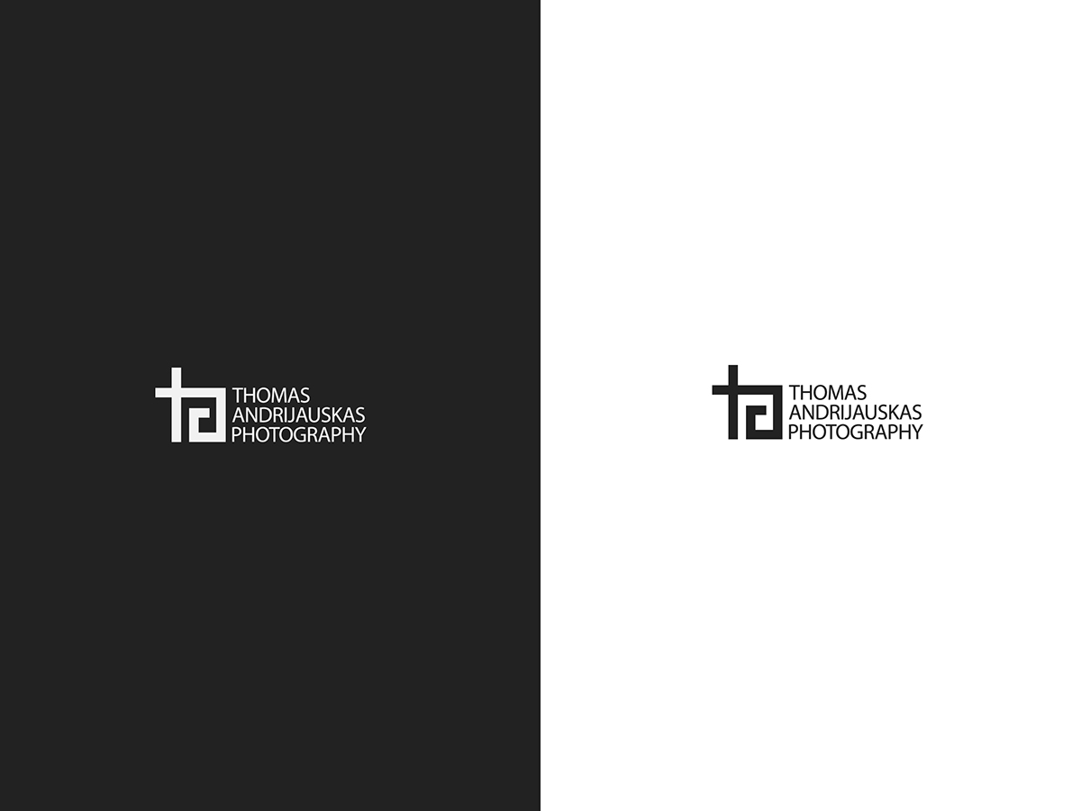 black and white minimal logotypes photographer identity logo b&w Photography