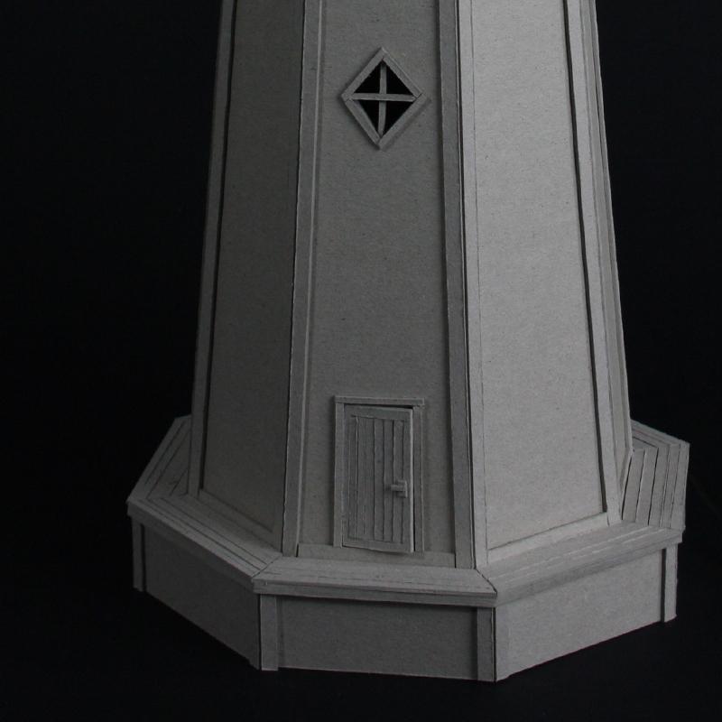 cardboard Lamp Cardboard lamp  lighthouse paper Miniature model