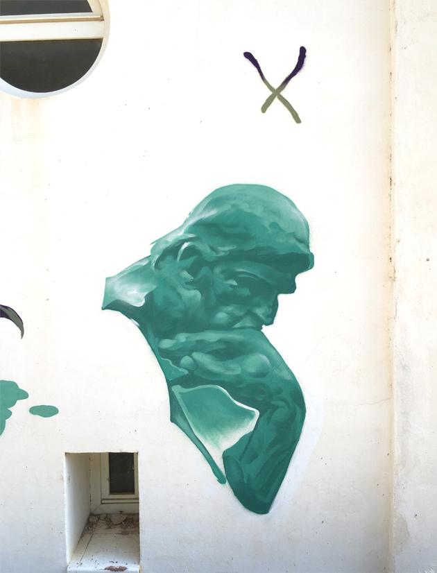 Montana sprayart graffiti n Urbanart bigwall rodin auguste Spraycan streetart paint aerosol aerosolpaint Isaacmahow   montanacolors