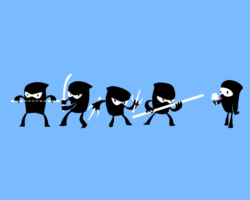 childrens books ice cream Illustrator ninja