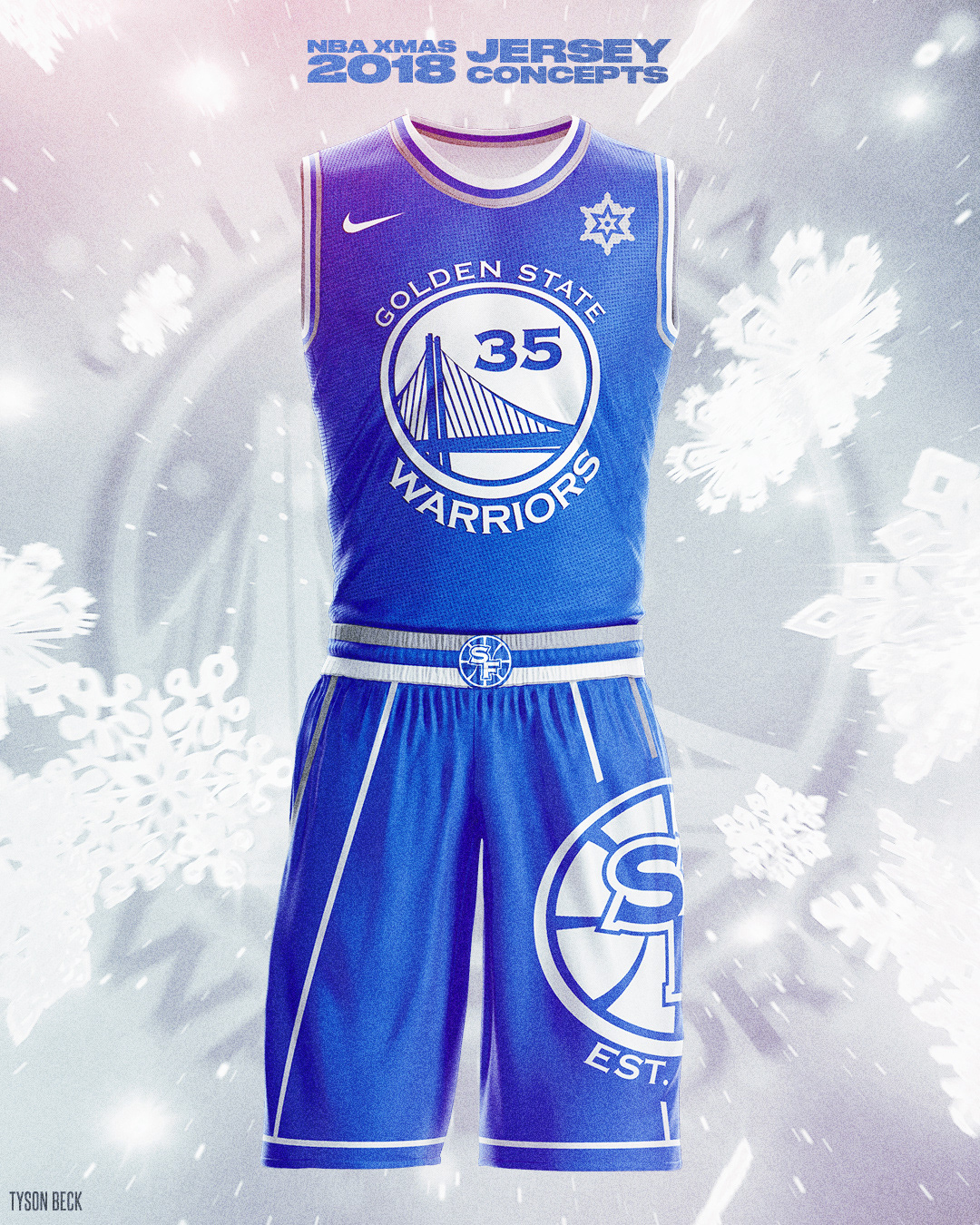 22eea11084d NBA x NIKE 2018 Christmas Day - Jersey Concepts on Behance