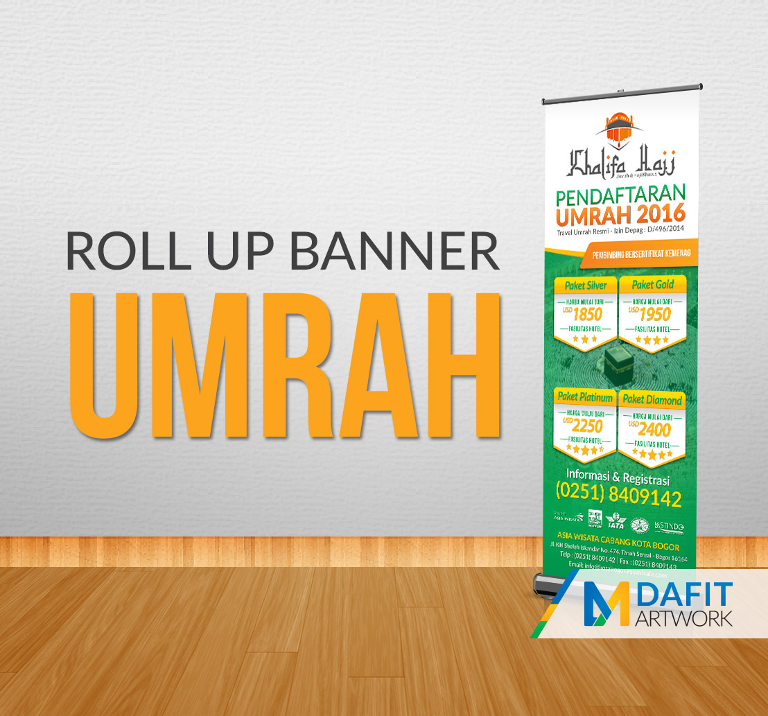 Roll Up Banner Umrah 2016