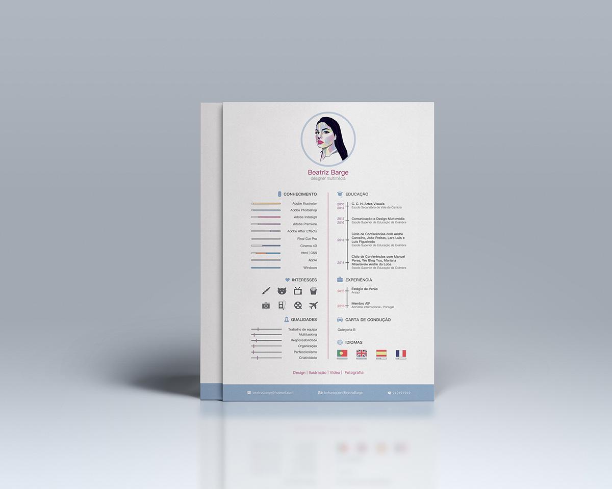 Contoh Desain CV simple
