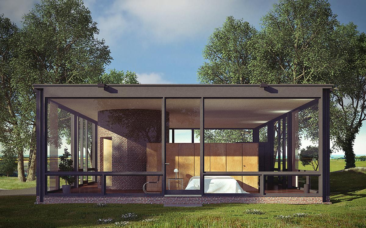 Philip Johnson Glass House glass house - philip johnson on behance