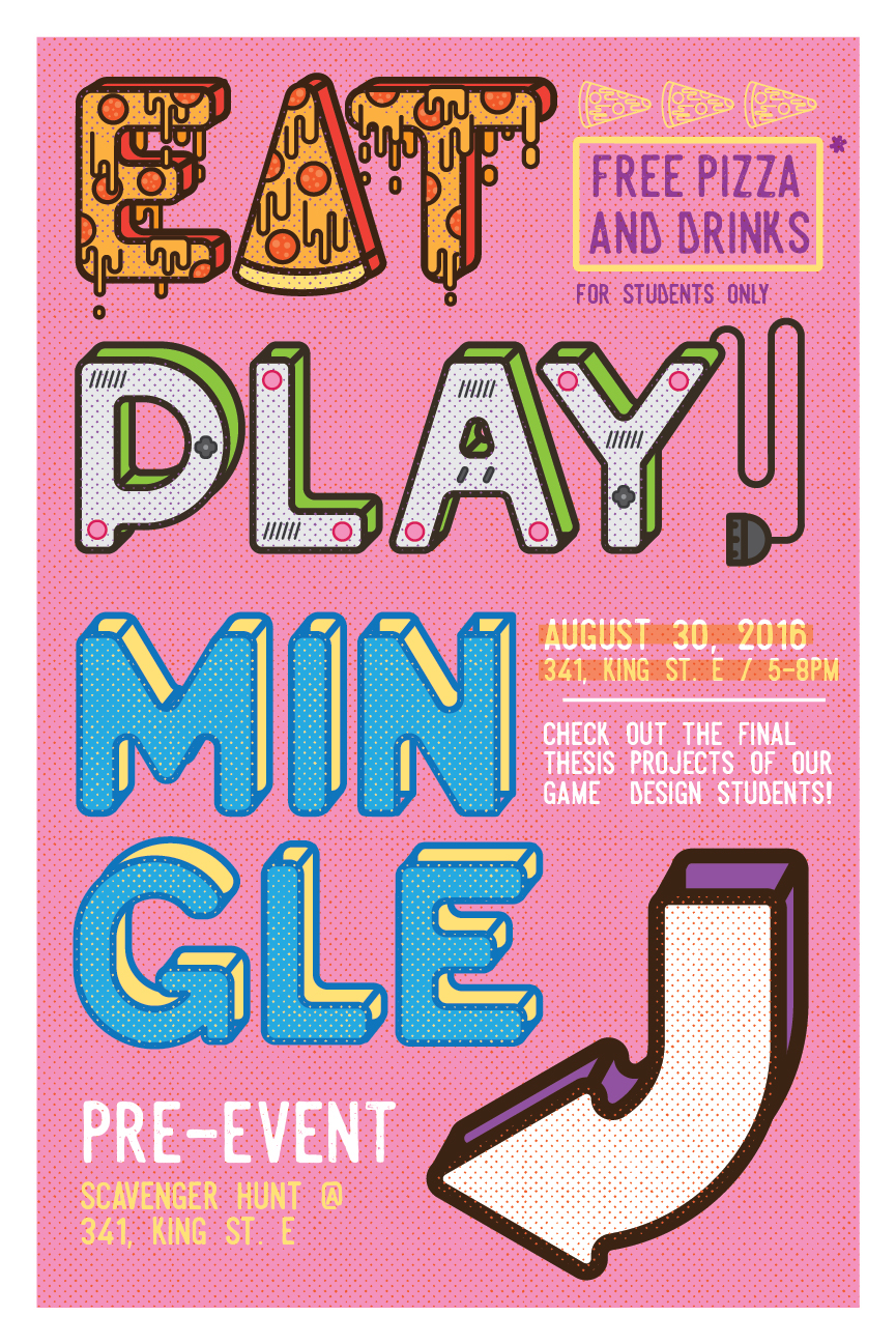 eat play mingle poster on behance