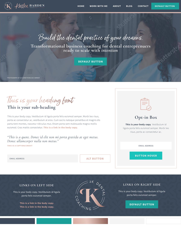 Website Design For Kristen Barden Dental Coach On Behance