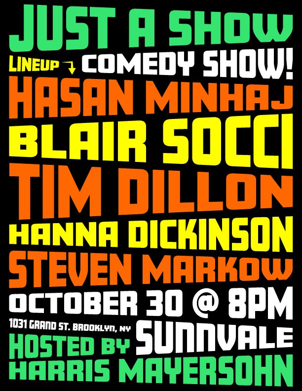 Comedy show poster 2