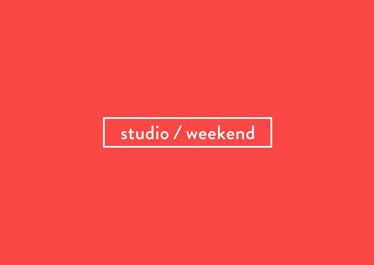 brand weekend calendar square red Guide module logo identity black box pattern graphic slash