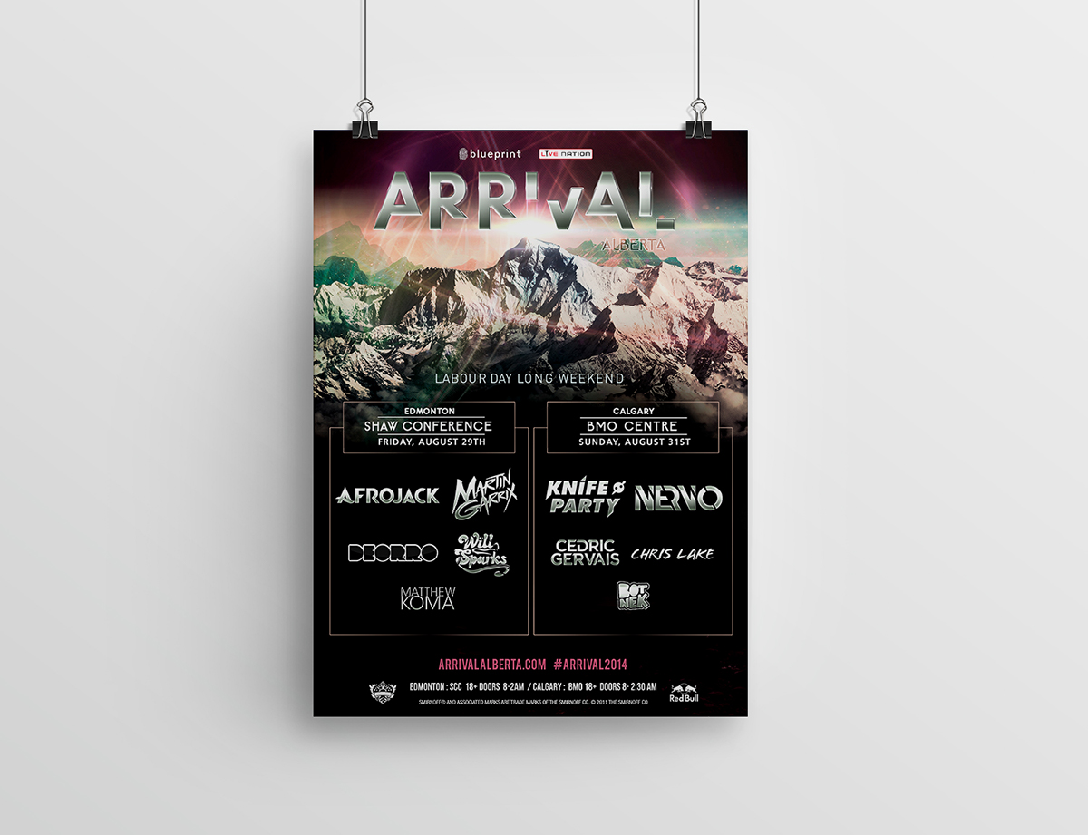 Blueprint events arena posters on behance client alvaro prol blueprint events malvernweather Gallery